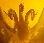Godzilla king of the monsters ghidorah poster clear keyart