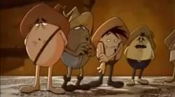 The Buzzard Eggs in line