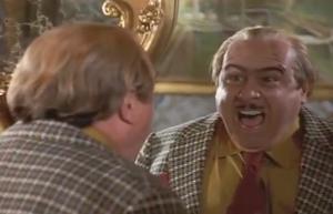 Harry Wormwood yelling comically