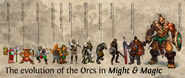 Might and magic orcs evolution