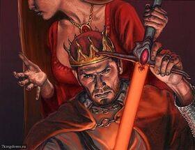 Stannis with Lightbringer