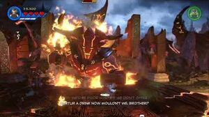 Lego Marvel Super Heroes 2 Surtur Boss fight