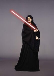 Sidious with light saber