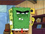 Abrasive SpongeBob's evil stare