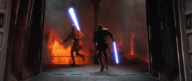 Darth Vader chases
