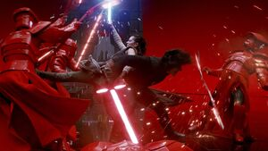 Kylo and Rey fight together