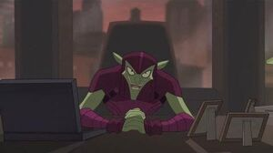 Spectacular Spider-Man (2008) Green Goblin talks with Tombstone