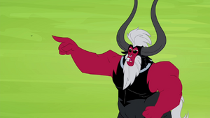 Tirek pointing at the Mane 6 S4E26
