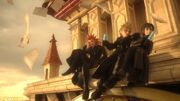 Axel, Roxas, and Xion
