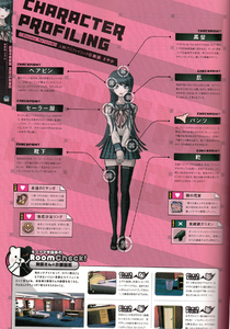 Danganronpa 1 Sayaka Maizono Character Design Profile Danganronpa 1.2 Art Book