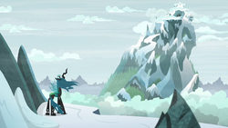 Chrysalis nearing the mountain's peak S9E8