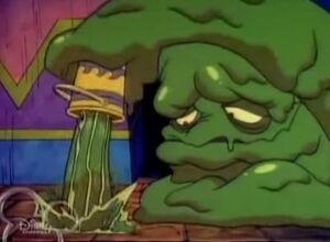 Crud dumping slime on smudge