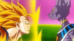 SSJ3 Goku Vs Lord Beerus - (DBZ Battle Of Gods)