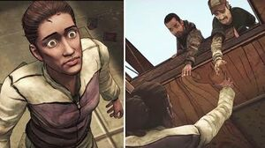 Kenny Sacrifices Himself to Save Christa -All Choices- The Walking Dead