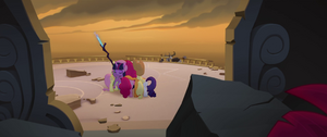 Mane Six hugging as the Storm King returns MLPTM