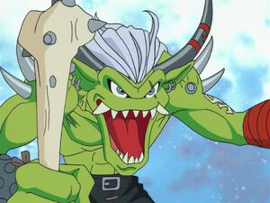 Ogremon faces his enemies