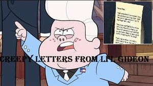 Gravity Falls All Creepy Letters From Lil Gideon