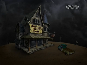 The house and the shop belonging to the Stitch Sisters