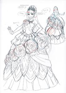 Danganronpa 3 - Character Profiles - Sonia Nevermind (Despair design sketches)