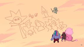 Diamond sand drawing