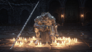 Champion Gundyr before Fight