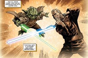 Dooku Yoda duel