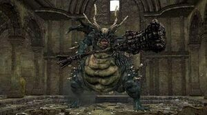 Dark Souls Remastered Asylum Demon Boss Fight
