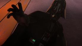 Darth Vader telekinectic