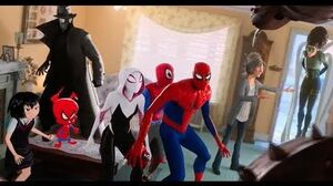 Spider-people vs Villains Fight Scene Spider-Man Into the Spider-Verse (2018)