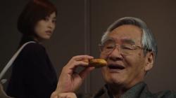 Namba enjoys Taiyaki
