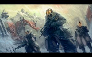 Soldiers video games weapons killzone rifles helghast artwork 1500x935 wallpaper www.wallpaperto.com 71