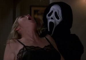 Ghostface about to kill Christine