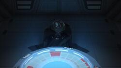 Darth Vader kneels
