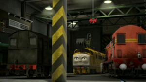 Diesel 10 planning to steal Christmas decorations from Tidmouth Sheds