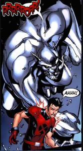 Julian Keller (Earth-616) and Predator X from New X-Men Vol 2 36 0001.jpg