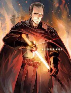 Stannis drawing Lightbringer