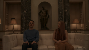 Villanelle and Aaron Bonding