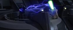Darth Sidious blast