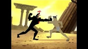 Samurai Jack S4Ep9-Jack vs Aku in human form pt1
