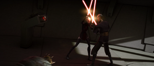 Dooku fighting