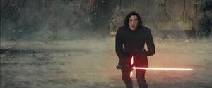Kylo fighting Luke