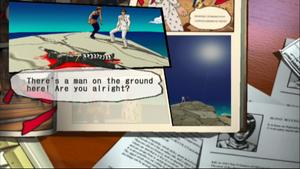 Nero's dead body in GioGio's Bizarre Adventure