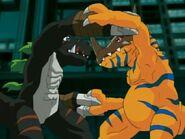 DarkTyrannomon VS Greymon