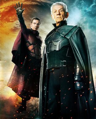 Magneto in youth (left) and aged (right)