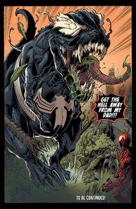Venom (Klyntar) (Earth-616) and Grendel (Klyntar) (Earth-616) from Venom Vol 4 24 0001