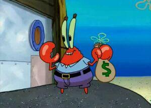 Mr. krabs moneybag