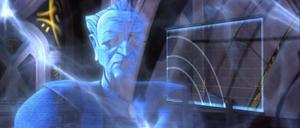 Chancellor Palpatine distorted