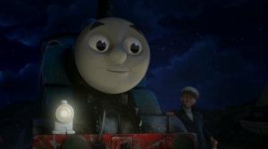 Sailor John taking advantage of Thomas's desire to be Really Useful to make him help him find the treasure