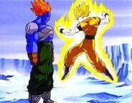 Super Saiyan Goku vs. Super Android 13