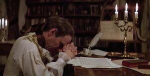 Salieri praying